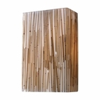 ELK Modern Organics-2-Light Sconce in Bamboo Stem Material in Polished Chrome EK-19060-2