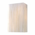 ELK Modern Organics-2-Light Sconce in White Sawgrass Material in Polished Chrome EK-19030-2