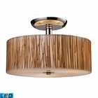 ELK Modern Organics 3-Light Semi-Flush in Bamboo Stem Material in Polished Chrome - Led EK-19065-3-LED