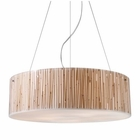 ELK Modern Organics-5-Light Pendant in Bamboo Stem Material in Polished Chrome EK-19063-5