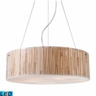 ELK Modern Organics-5-Light Pendant in Bamboo Stem Material in Polished Chrome - Led EK-19063-5-LED
