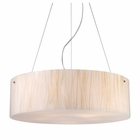 ELK Modern Organics-5-Light Pendant in White Sawgrass Material in Polished Chrome EK-19033-5