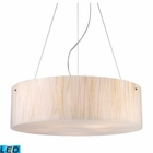 ELK Modern Organics-5-Light Pendant in White Sawgrass Material in Polished Chrome - Led EK-19033-5-LED