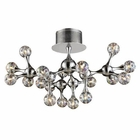 ELK Molecular Collection 18-Light Semi-Flush in Chrome With Rainbow Glass EK-30026-18