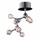 ELK Molecular Collection 7-Light Semi Flush Mount in Chrome With Rainbow Glass EK-30014-7