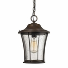 ELK Morganview 1 Light Outdoor Pendant in Hazelnut Bronze EK-45153-1