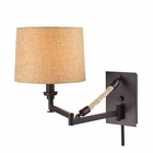 ELK Natural Rope 1 Light Swingarm in Oil Rubbed Bronze EK-63060-1
