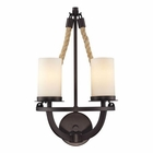 ELK Natural Rope 2 Light Sconce in Aged Bronze EK-63040-2