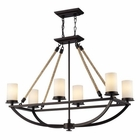 ELK Natural Rope 6 Light Chandelier in Aged Bronze EK-63018-6