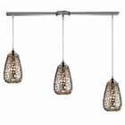 ELK Nestor 3-Light Pendant in Chrome EK-20064-3L