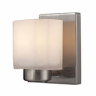 ELK New Haven 1 Light Vanity in Brushed Nickel EK-66185-1