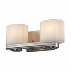 ELK New Haven 2 Light Vanity in Brushed Nickel EK-66186-2