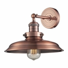 ELK Newberry Collection 1 Light Sconce in Antique Copper EK-55030-1