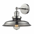 ELK Newberry Collection 1 Light Sconce in Polished Nickel EK-55010-1