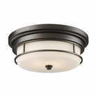 ELK Newfield 2-Light Flush Mount in Oiled Bronze EK-66254-2