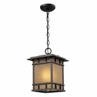 ELK Newlton 1 Light Outdoor Pendant in Weathered Charcoal EK-45013-1