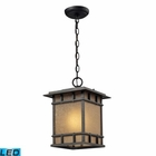 ELK Newlton 1 Light Outdoor Pendant in Weathered Charcoal - Led EK-45013-1-LED