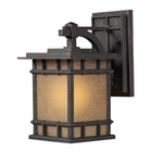 ELK Newlton 1 Light Outdoor Sconce in Weathered Charcoal EK-45010-1