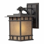 ELK Newlton 1 Light Outdoor Sconce in Weathered Charcoal EK-45011-1