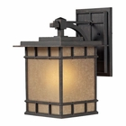 ELK Newlton 1 Light Outdoor Sconce in Weathered Charcoal EK-45012-1