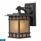 ELK Newlton 1 Light Outdoor Sconce in Weathered Charcoal - Led EK-45010-1-LED