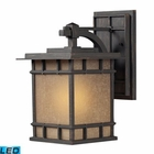 ELK Newlton 1 Light Outdoor Sconce in Weathered Charcoal - Led EK-45011-1-LED