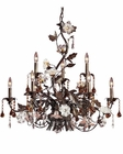 ELK Nine Light Chandelier Cristallo Fiore EK-85003