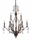 ELK Nine Light Chandelier Emilion EK-2184