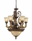 ELK Nine Light Chandelier Regency EK-2164