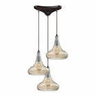 ELK Orbital 3 Light Pendant in Oil Rubbed Bronze EK-10432-3