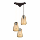 ELK Orbital 3 Light Pendant in Oil Rubbed Bronze EK-10433-3