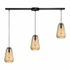 ELK Orbital 3 Light Pendant in Oil Rubbed Bronze EK-10433-3L
