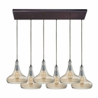 ELK Orbital 6 Light Pendant in Oil Rubbed Bronze EK-10432-6RC