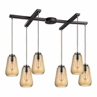 ELK Orbital 6 Light Pendant in Oil Rubbed Bronze EK-10433-6