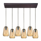 ELK Orbital 6 Light Pendant in Oil Rubbed Bronze EK-10433-6RC