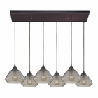 ELK Orbital 6 Light Pendant in Oil Rubbed Bronze EK-10434-6RC