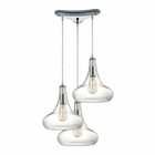 ELK Orbital  Light Pendant in Polished Chrome EK-10422-3