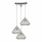 ELK Orbital  Light Pendant in Polished Chrome EK-10424-3