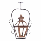 ELK Outdoor Gas Ceiling Lantern Bayou Collection in Solid Brass in An Aged Copper Finish. EK-7920-WP