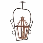 ELK Outdoor Gas Ceiling Lantern Grande Isle Collection in Solid Brass in An Aged Copper Finish. EK-7924-WP