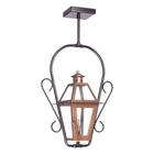 ELK Outdoor Gas Ceiling Lantern Grande Isle Collection in Solid Brass in An Aged Copper Finish. EK-7928-WP