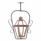 ELK Outdoor Gas Ceiling Lantern Grande Isle Collection in Solid Brass in An Aged Copper Finish. EK-7932-WP