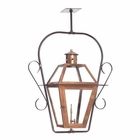 ELK Outdoor Gas Ceiling Lantern Grande Isle Collection in Solid Brass in An Aged Copper Finish. EK-7936-WP