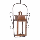 ELK Outdoor Gas Ceiling Lantern Maryville Collection in Solid Brass in An Aged Copper Finish. EK-7908-WP