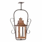 ELK Outdoor Gas Ceiling Lantern Maryville Collection in Solid Brass in An Aged Copper Finish. EK-7916-WP