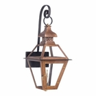 ELK Outdoor Gas Shepherd'S Scroll Wall Lantern Bayou Collection in Solid Brass in An Aged Copper Finish. EK-7919-WP