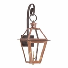 ELK Outdoor Gas Shepherd'S Scroll Wall Lantern Grande Isle Collection in Solid Brass in An Aged Copper Finish. EK-7931-WP