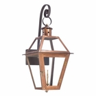ELK Outdoor Gas Shepherd'S Scroll Wall Lantern Grande Isle Collection in Solid Brass in An Aged Copper Finish. EK-7935-WP