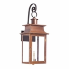 ELK Outdoor Gas Shepherd'S Scroll Wall Lantern Maryville Collection in Solid Brass in An Aged Copper Finish. EK-7907-WP