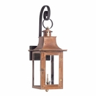 ELK Outdoor Gas Shepherd'S Scroll Wall Lantern Maryville Collection in Solid Brass in An Aged Copper Finish. EK-7915-WP